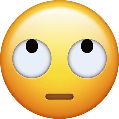 eye roll emoji  png   ios emojis emoji