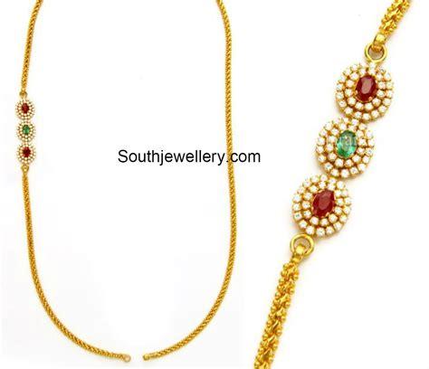 chain designs thali chain models with mugappu jewellery designs