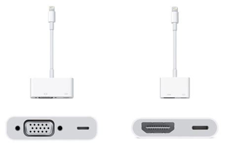 lighting bolt to vga apple s lightning to hdmi adapter will set you back