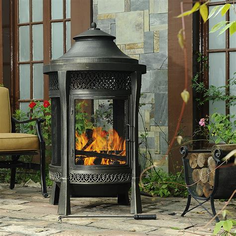 Sunjoy Fireplace by Sunjoy Tinder Cast Fireplace Outdoor Living Outdoor