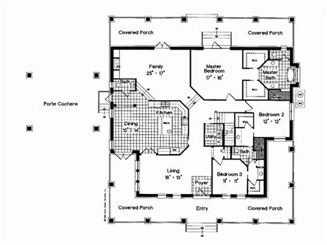 wrap around porch floor plans open house plans with wrap around porch open free