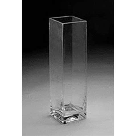 Rectangular Glass Vases For Centerpieces by Glass Rectangular Vase 20 Quot X 5 Quot
