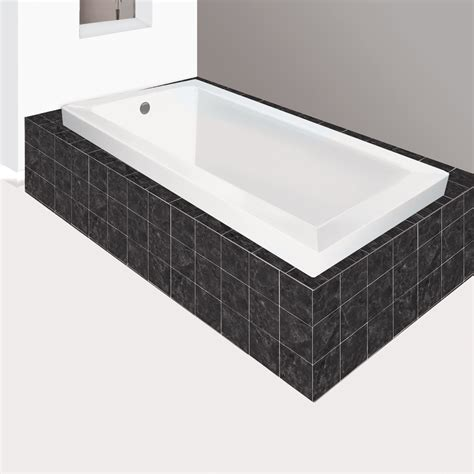 lowes bathtubs jade bath blw1023 6 signature drop in soaking bathtub