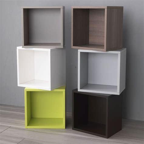 mensole cubo cubo per arredo in legno vari colori design libera