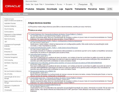 Sections Of An Article by Otn Article Oracle Database 12c Cross Platform