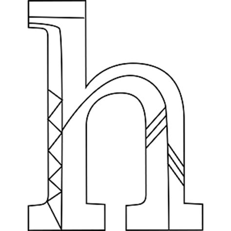 Lowercase Letter H Coloring Page by Lowercase H Coloring Page