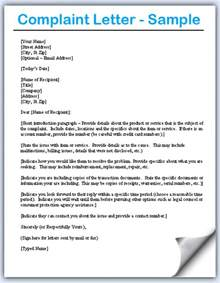 Complaint Letter Language Letter Of Complaint Custom College Papers