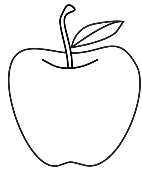 Apple Outline Png by Apple Outline Drawing Clipart Best