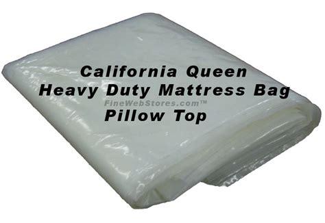 Size Plastic Mattress Bag by California Heavy Duty Pillowtop Size Plastic