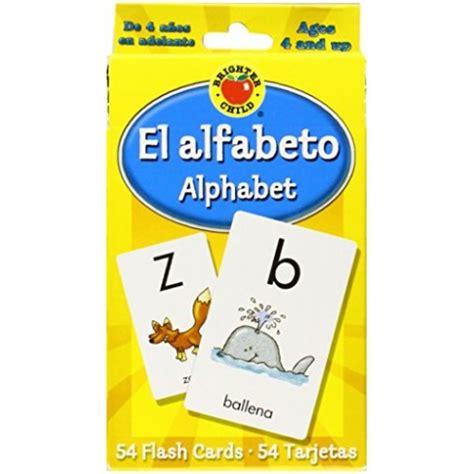 el alfabeto alphabet brighter child flash cards english wooks
