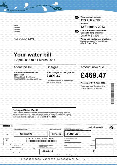 Fake Documents Fake Bank Statements Fake Utility Bills P60 P45 Sa302 And Payslips Utility Bill Template