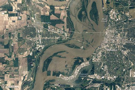 imagenes satelitales birdseye flooding in memphis image of the day