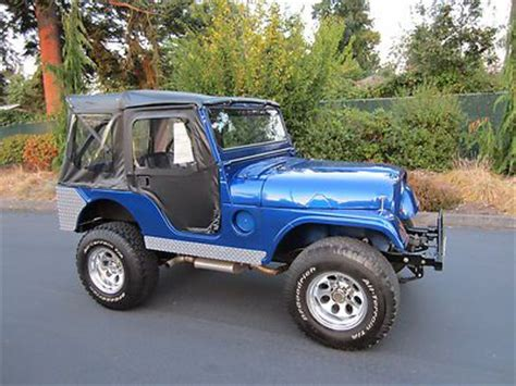 linex jeep blue buy fully restored willys m381a paint linex top