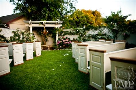 Backyards To Rent For Weddings by Backyard Wedding Celebration Doug Found Vintage Rentals