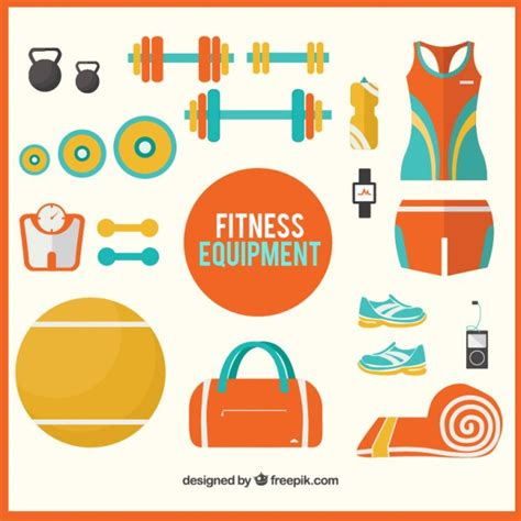 How To Get Fit And Free by Fitness Equipment Vector Free