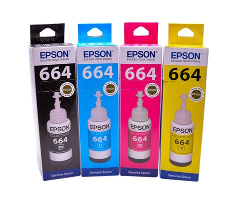 Toner Epson T6641 genuine original epson ecotank multipack 664 ink t6641