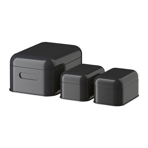 Ikea Spridd Kotak Dengan Penutup Set Isi 2 T1310 5 snika set 3 buah kotak dengan penutup kelabu gelap ikea