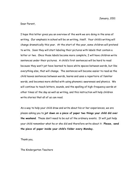 Parent Letter Writing Workshop Writer S Workshop Letter To Parents