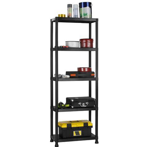 garage wall shelving brackets save 56 vonhaus 5 tier garage shelving unit with wall
