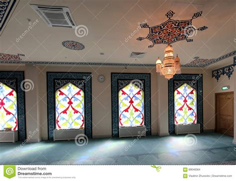 masjid window design stained glass window in the mosque stock photography