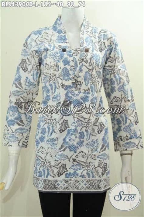 desain baju batik halus batik blus halus desain berkelas model resleting belakang