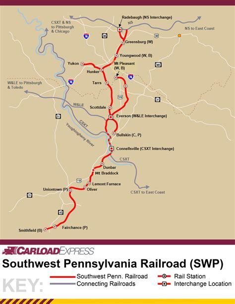 map of southwest pennsylvania southwest pennsylvania railroad carload express inc