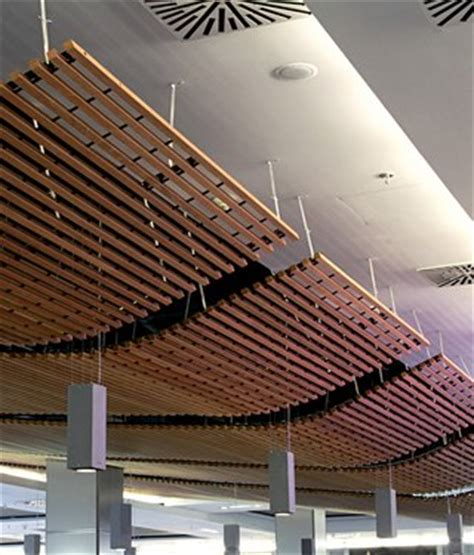 wood slat ceiling system wood grid ceiling by douglas product