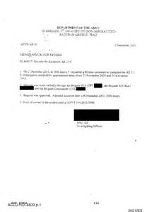 Request Letter Memo Type Army Memo Re Request To Extend An Army Regulation 15 6 Investigation Www Thetorturedatabase Org