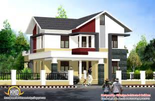 Modern Home Style Contemporary Style Home 1956 Sq Ft Kerala Home Design