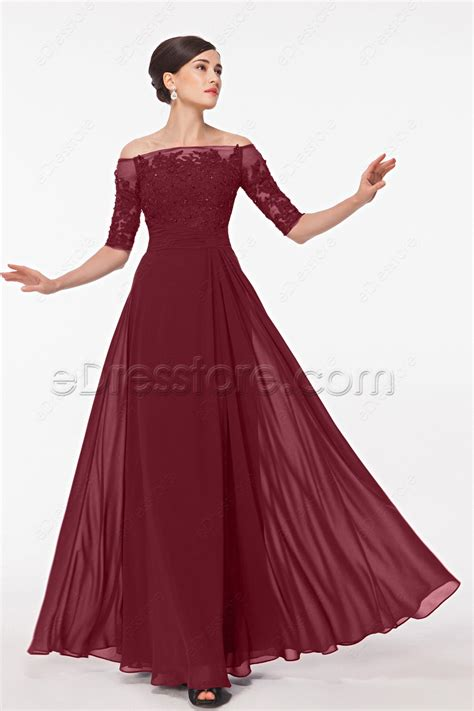 what color prom dress should i get burgundy modest lace prom dresses with sleeves