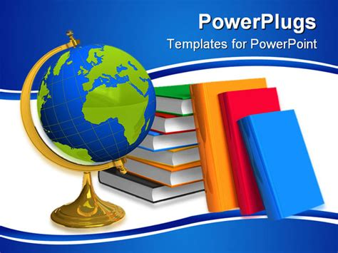 geography powerpoint templates school globe and color books isolated white