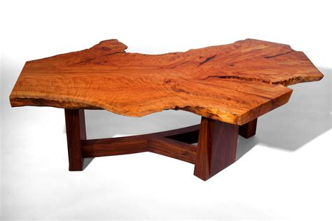 Hand Made Live Edge Beech Slab Coffee Table By J Holtz Live Edge Coffee Table