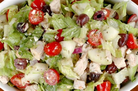greek salads dad s greek salad recipe dishmaps