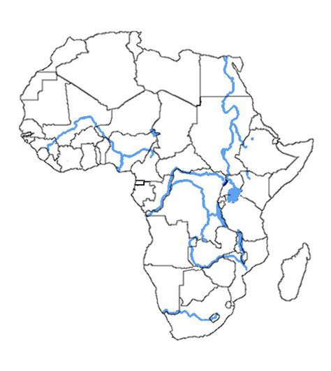 africa map rivers blank africa map with rivers