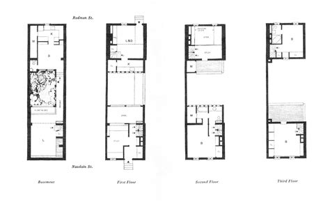 Philadelphia Row Home Floor Plan With Garage by Row House Floor Plans Philadelphia