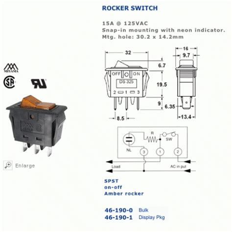 lighted rocker switch wiring diagram spst illuminated