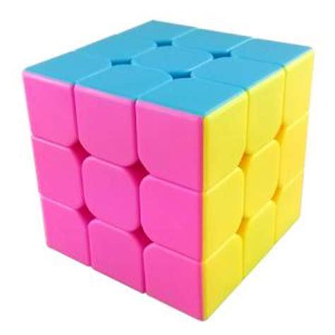 Rubik 3x3 Jocubes Speedcube Stickerless Pink moyu aolong v2 stickerless 3x3x3 speed cube pink version 3x3x3 cubezz professional puzzle