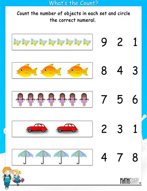 Grade 1 Worksheets by Grade 1 Math Worksheets Page 6