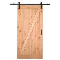 home depot sliding barn door masonite 36 in x 84 in z bar knotty alder interior barn
