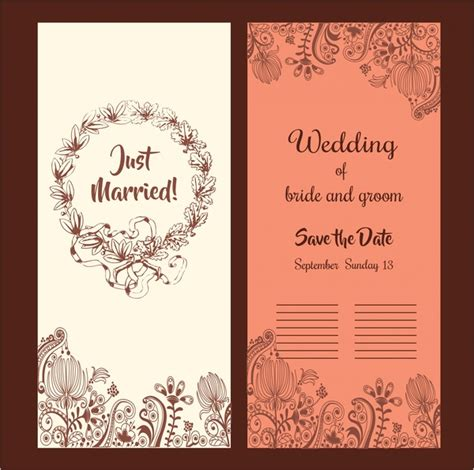 wedding card design images wedding card design classical style with flowers free vector in adobe illustrator ai ai