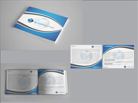unique solutions design company profile modern upmarket brochure design design for island