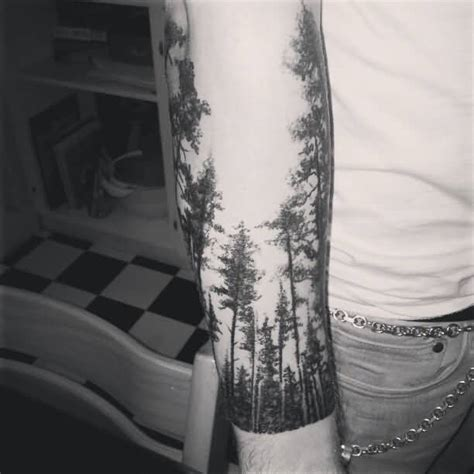 black and grey forest tattoo 20 forest tattoos on sleeve