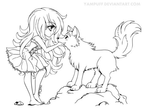 Chibi Anime Wolf Coloring Pages Anime Wolf Coloring Pages