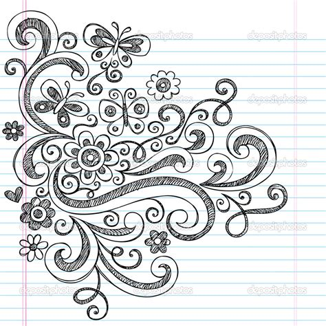sketch paper pattern easy flower designs to draw on paper drawing of sketch