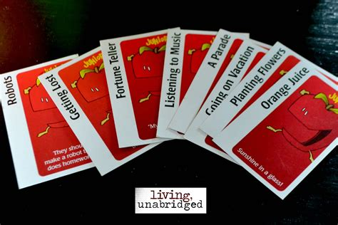 Apples To Apples Template Card by 52 Family Nights Apples To Apples Living Unabridged