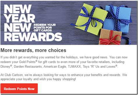Retail Gift Card Programs - ouch club carlson points for retail cards redemption value 1 43 per 1 000 points
