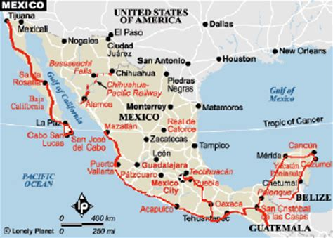 mexico east coast map mexico ride the road
