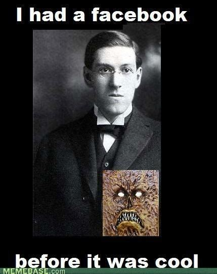 Funny Stupid Memes - h p lovecraft s original facebook and the dancing goths