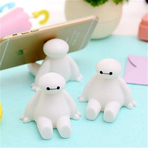 cute cell phone holder for desk 2017 cell mobile phone holder big hero 6 baymax silicone