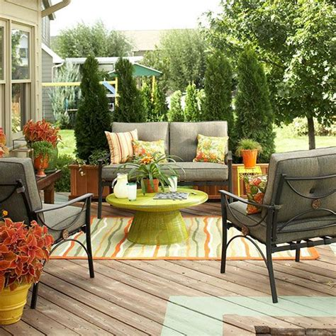 patio furniture lay outs colorful outdoor living spaces 21 1 kindesign
